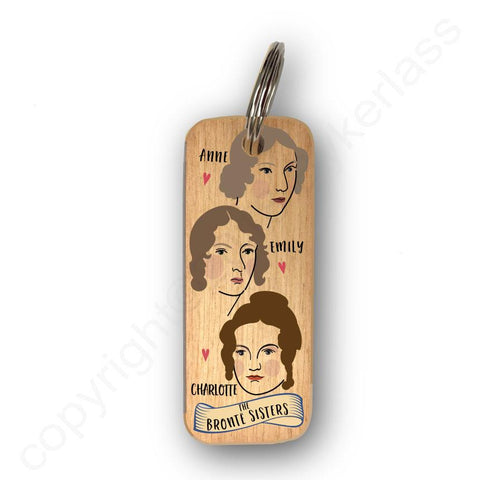 The Bronte Sisters Character Wooden Keyring - RWKR1