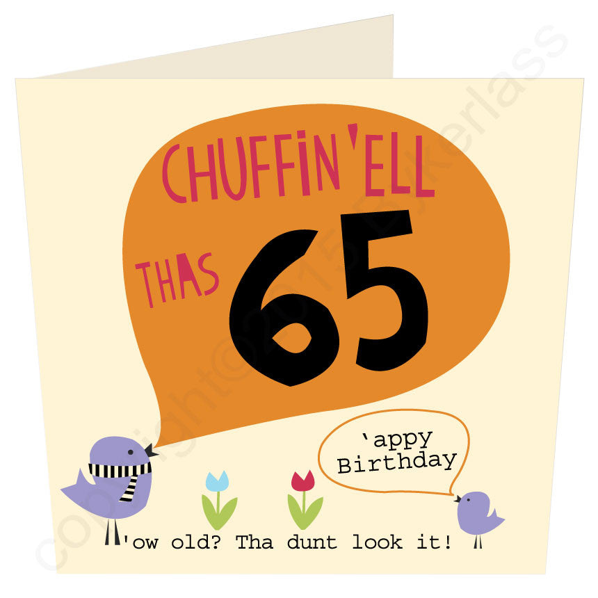 Chuffin 'Ell Thas 65 Yorkshire Card