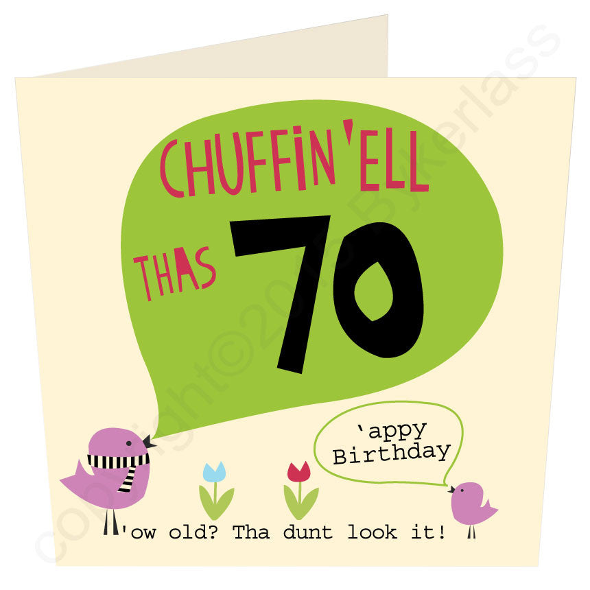 Chuffin 'Ell Thas 70 Yorkshire Card