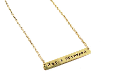 Hand-Stamped Nameplate Necklace