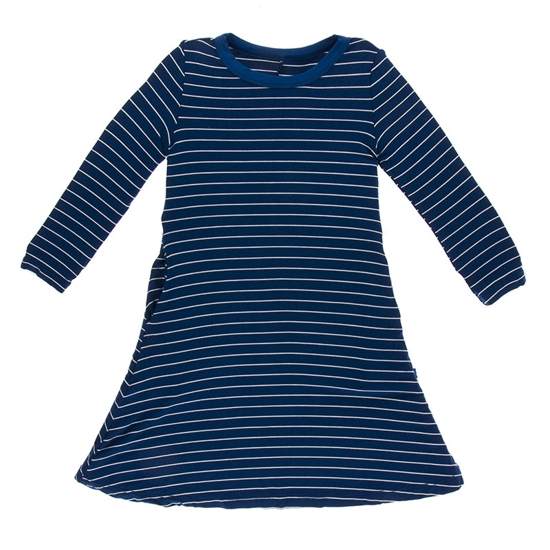 Kickee Pants - Fall 3 2018 - Tee Shirt Dress – Tokyo Navy Stripe