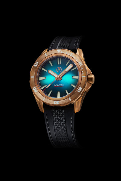 Swordfish Bronze 300m Diver Seiko NH35 'Teal' Launch Special