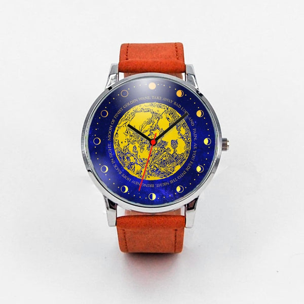 Moon Of Finest Golden Wane Watch - The Moonlight Shop