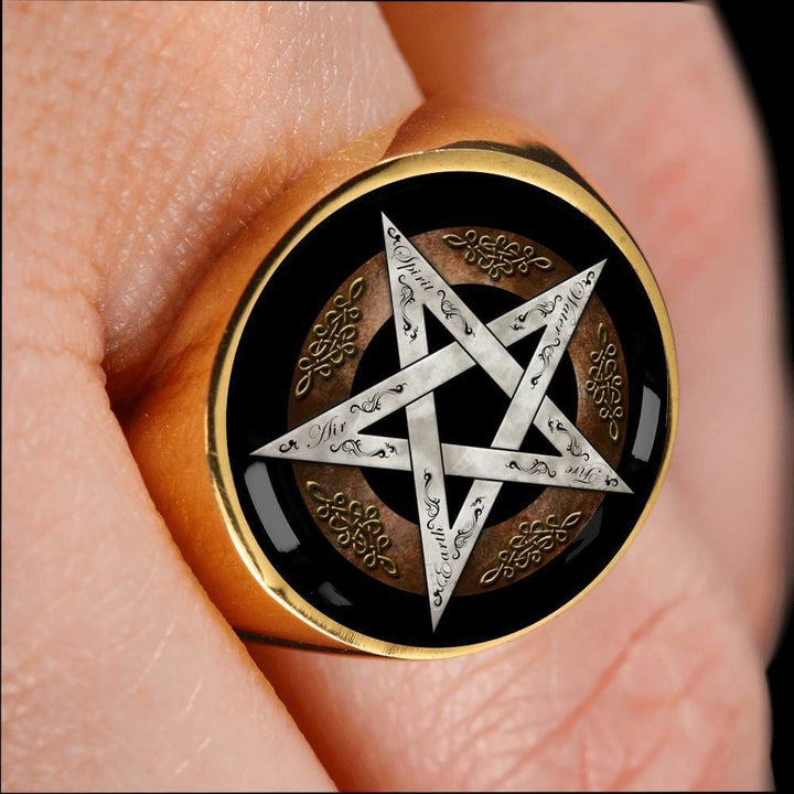 Pentacle Of Protection Ring - The Moonlight Shop