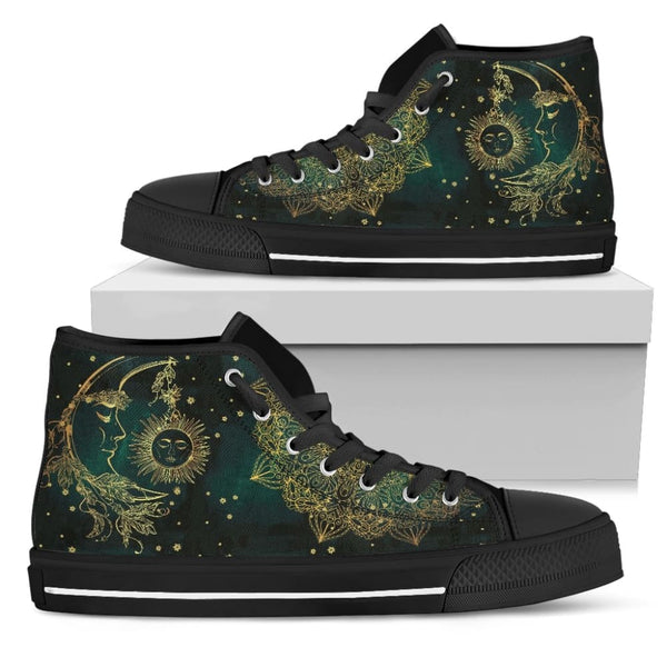 Sun And Moon Womens High Top Shoes - The Moonlight Shop