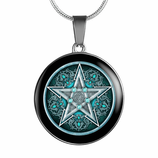 Water Pentacle Luxury Necklace - The Moonlight Shop