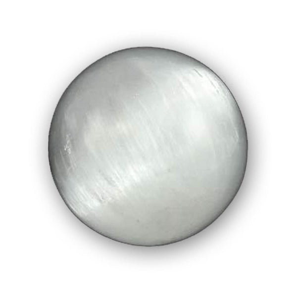 White Selenite Crystal Ball Of Higher Consciousness And Transformation - The Moonlight Shop