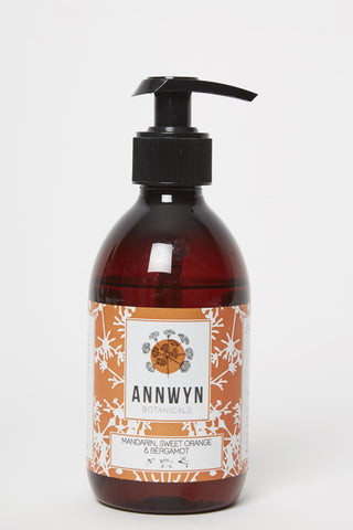 mandarin, sweet orange & bergamot natural hand & body wash 250ml