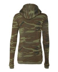 1-Alternative - Ladies' Eco-Fleece Athletics Hooded Pullover - 9596