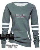 CTK LADIES VARSITY FLEECE CREW NECK RHINESTONE PULLOVER-GOLF SWEATSHIRT 1