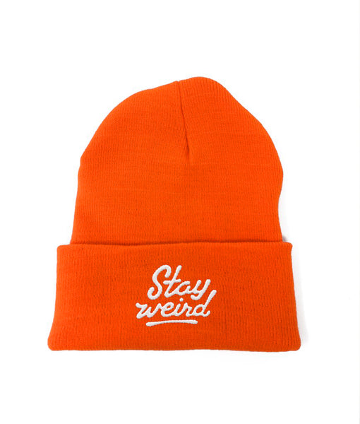 Stay Weird - Hunters Orange Ltd Beanie