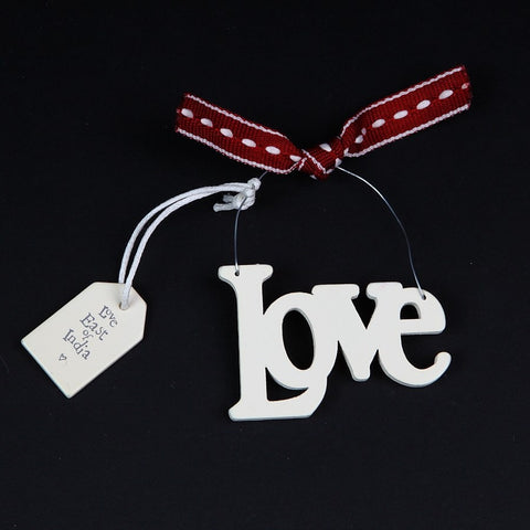 East of India Cut-out Wooden 'Love' Sign