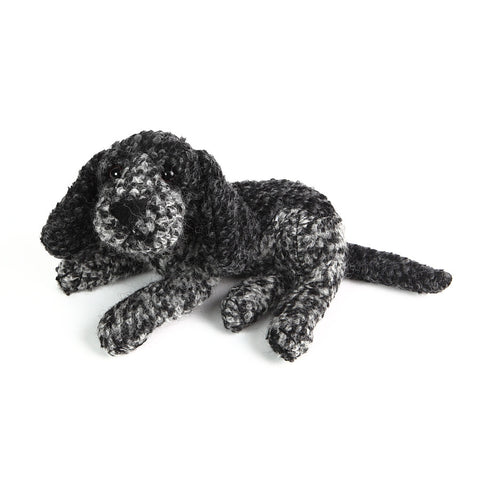 Dora Designs Grey/Black Woolen Spaniel Paperweight