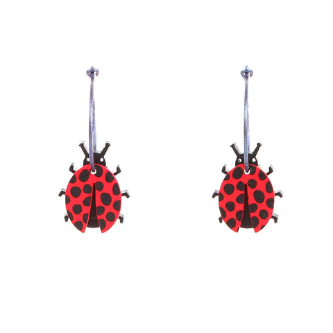 Lene Lundberg K-Form Ladybird Earrings