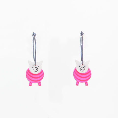 Lene Lundberg K-Form Squidgy Pig Earrings