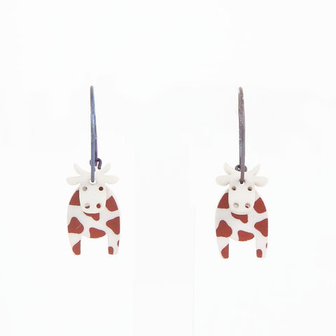 Lene Lundberg K-Form Cow Earrings