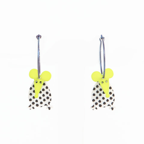 Lene Lundberg K-Form Spotty Mice Earrings