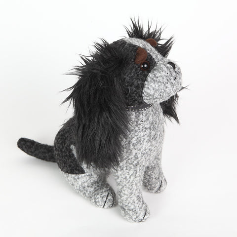 C.C. the King Charles Spaniel Doorstop from Dora Designs side view