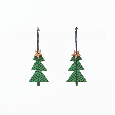 Lene Lundberg K-Form Christmas Tree Earrings