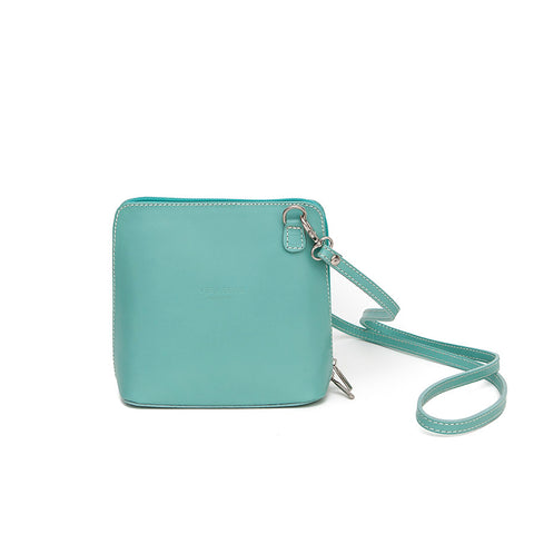 Genuine Leather Small Shoulder Bag in Mint