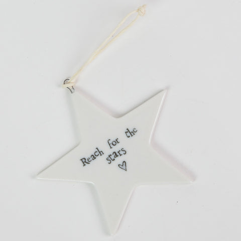 East of India Ceramic Star 'Reach for the Stars'