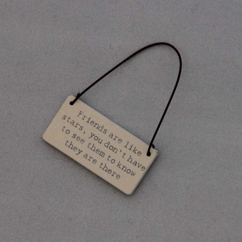 Tiny Wooden Hanging Sign (with Sentiments)