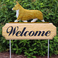 Pembroke Welsh Corgi Welcome Sign
