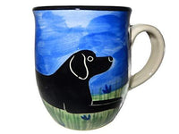 Labrador Retriever, Black, Hand-Painted Ceramic Mug