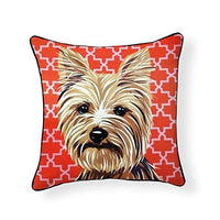 Yorkshire Terrier Pooch Decor Decorative Pillow