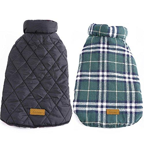 Reversible Plaid Dog Vest