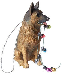 German Shepherd Dog with Holiday Lights Ornament