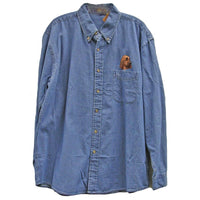 Bloodhound Embroidered Mens Denim Shirts