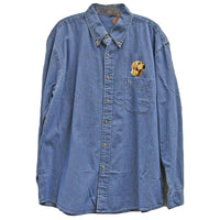 Labrador Retriever Embroidered Mens Denim Shirts