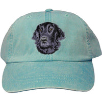 Flat Coated Retriever Embroidered Baseball Caps