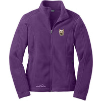Silky Terrier Embroidered Ladies Fleece Jackets