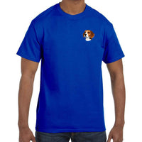 Beagle Embroidered Mens T-Shirts