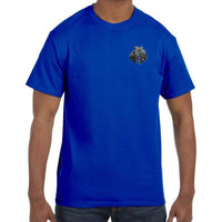 Kerry Blue Terrier Embroidered Mens T-Shirts