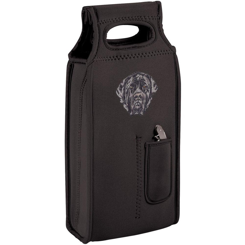 Embroidered Samba Wine Totes Black  Mastiff D135