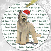 "Briard ""Happy Howlidays"" Ornament"