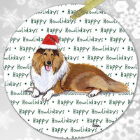 "Collie ""Happy Howlidays"" Ornament"