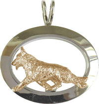 German Shepherd Dog Sterling & 14k Gold Jewelry