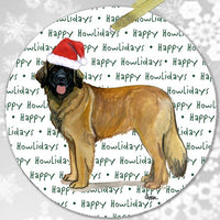 "Leonberger ""Happy Howlidays"" Ornament"