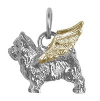 Norwich Terrier Angel Charm