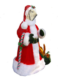 Soft Coated Wheaten Terrier Large Santa Statue