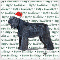 "Bouvier des Flandres ""Happy Howlidays"" Coaster"