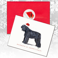Bouvier des Flandres Christmas Note Cards