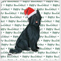 "Briard, Black ""Happy Howlidays"" Coaster"