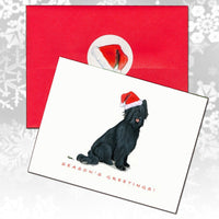 Briard, Black Christmas Note Cards