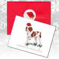 Brittany Christmas Note Cards