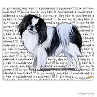 Japanese Chin, Black and White Cutting Board